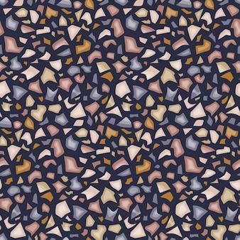 テラゾスタイルの抽象的なシームレスパターン