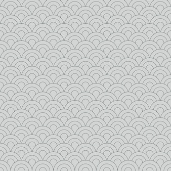 Abstract seamless pattern japanese vintage style geometric elements ornament white background