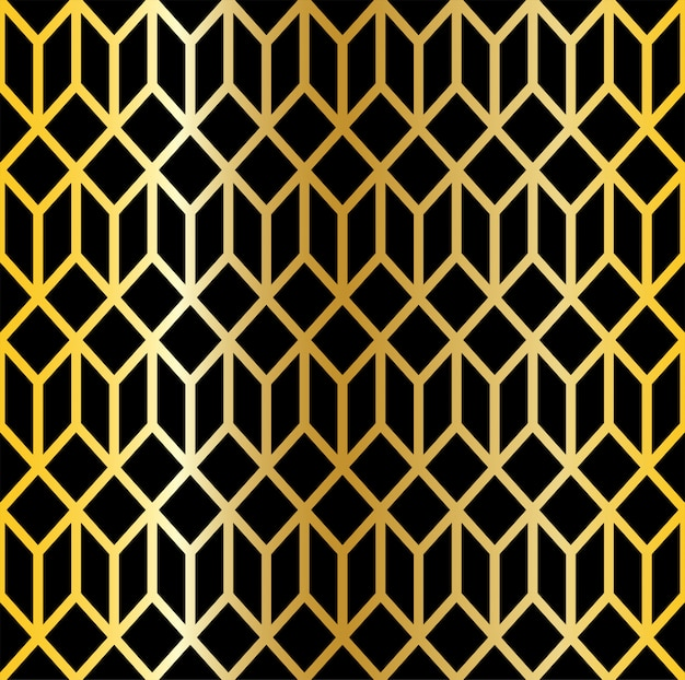 Abstract .seamless pattern line black and gold background. design pattern art deco style.
