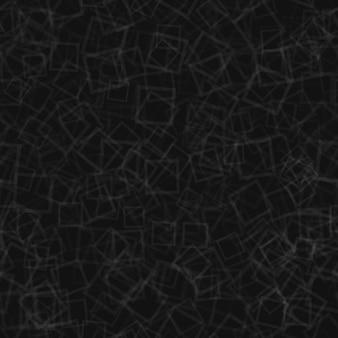 Абстрактный бесшовный паттерн из случайно расположенных контуров квадратов в черном и сером цветах