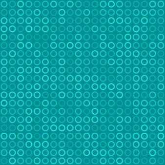 水色の小さなリングやピクセルの抽象的なシームレスパターン