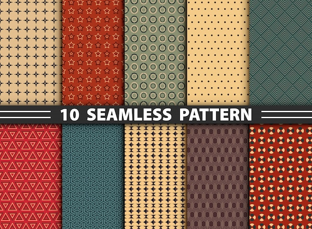Abstract seamless pattern set
