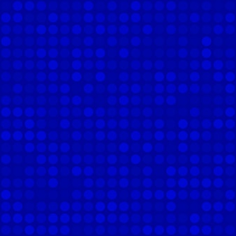 Abstract seamless pattern of small circles or pixels in blue colors