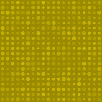 Abstract seamless pattern of small circles or pixels in various sizes in yellow colors