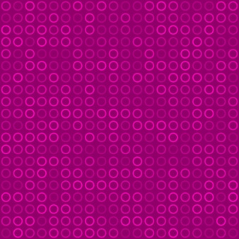Abstract seamless pattern of small rings or pixels in purple colors