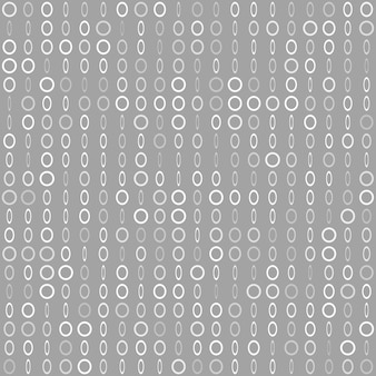 Abstract seamless pattern of small rings or pixels in various sizes in gray colors