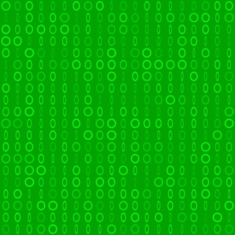 Abstract seamless pattern of small rings or pixels in various sizes in green colors