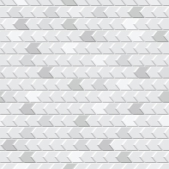 Abstract seamless pattern of tiles fitted to each other, in white and gray colors