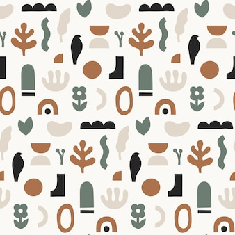 Abstract seamless pattern.trendy  illustration in collage style.