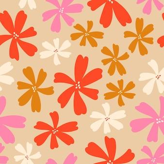 꽃과 잎으로 추상 완벽 한 패턴입니다.