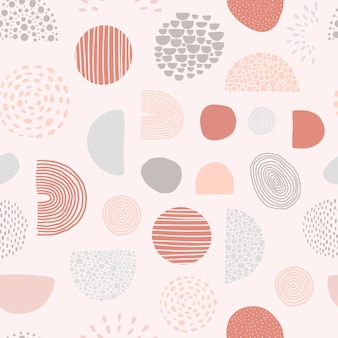 Abstract seamless pattern with geometric shapes