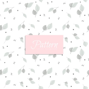 Abstract seamless pattern with grey leaves