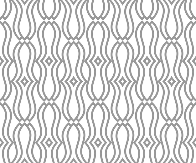 Abstract seamless pattern with ornamental line