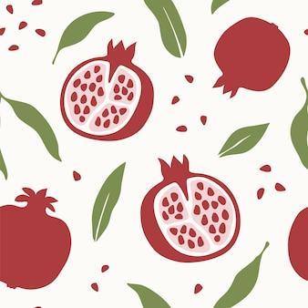 석류와 추상 원활한 패턴