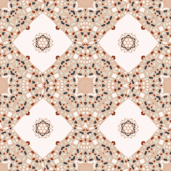 Abstract seamless pattern with terrazzo mosaic
