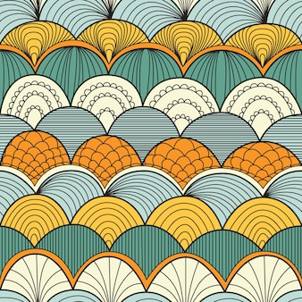 파도 함께 추상 원활한 패턴