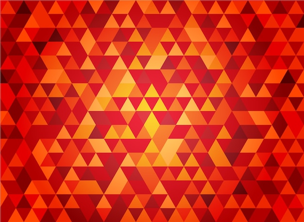 Abstract seamless red triangular geometric shape background