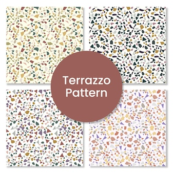 Abstract seamless terrazzo pattern background,