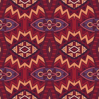 ファブリックとカーペットの抽象的なシームレスな部族ベクトルパターン