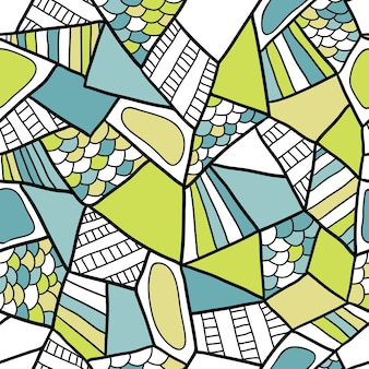 Абстрактный бесшовные модели вектор. doodle геометрический фон. модная текстура для ткани или обертывания