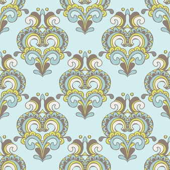 Abstract seamless vintage luxury ornamental vector pattern for fabric