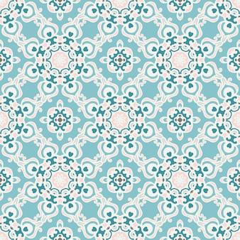 ファブリックの抽象的なシームレスなヴィンテージ高級装飾ベクトルパターン。素敵な冬の背景