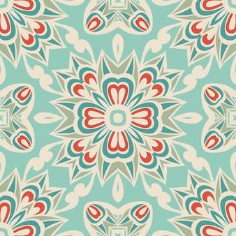 직물에 대 한 추상 원활한 빈티지 럭셔리 장식 벡터 패턴