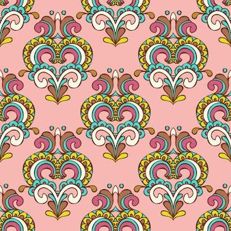 抽象的なシームレスなヴィンテージ高級装飾ベクトルパターン