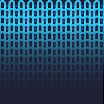 青い色の抽象的なシームレスな波状パターンの背景。