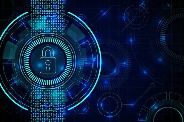 Abstract secure technology wallpaper