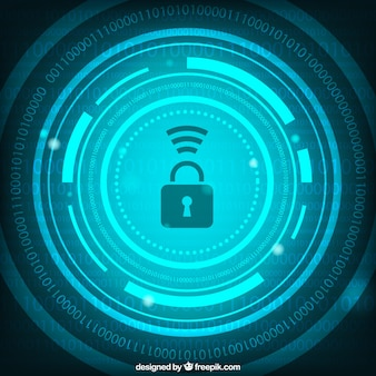 Abstract security background with numbers and padlock