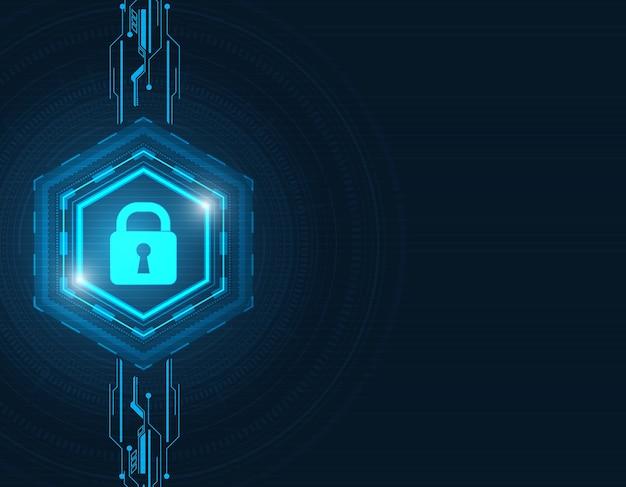 기술 배경에 추상 보안 디지털 개념