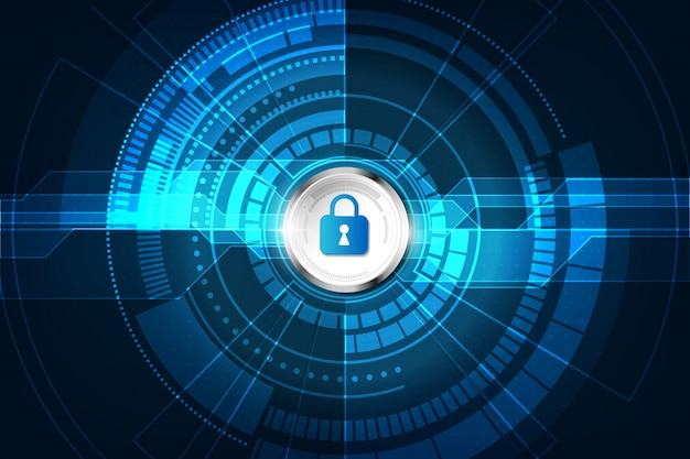 Abstract security digital technology background