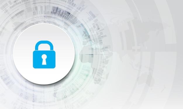 추상 보안 디지털 기술 배경