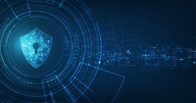 Абстрактный фон безопасности цифровых технологий.