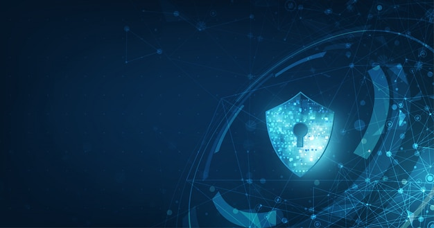 Abstract security digital technology banner.