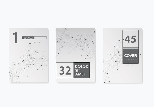 Abstract set brochure cover template for banner design. minimal infographic design. vector leaflet layout. web banner layout template. vector graphic illustration.