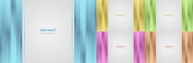 Абстрактный набор геометрического градиента цвета синий, желтый, зеленый, фиолетовый и оранжевый стиль фона. векторная иллюстрация