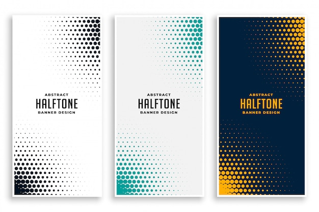 Abstract set of halftone backgrounds