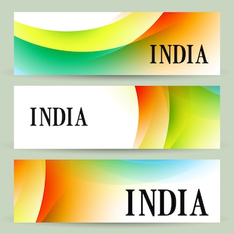 Abstract set of indian headers