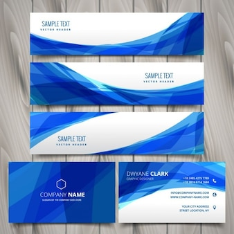 Abstract set of web banners and business cards