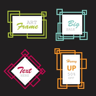 Abstract shape banner frames