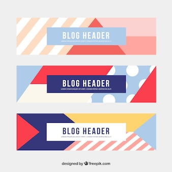 Abstract shape banners