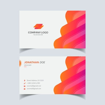 Abstract shape business card  design