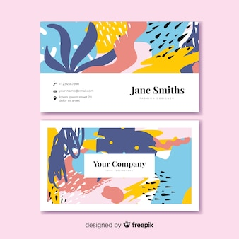 Abstract shape business card template