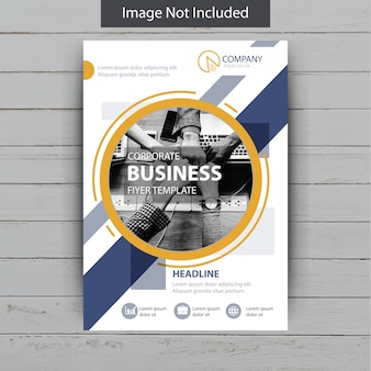 Abstract shape business flyer