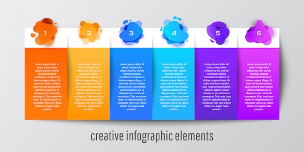 Abstract shape info graphic template banner for website