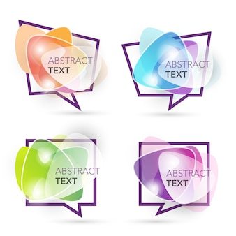 Abstract shape label banner collection