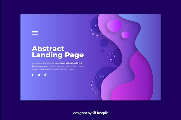 Abstract shape landing page template