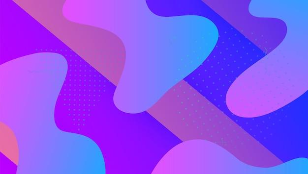 추상 모양입니다. 네온 개념입니다. 핑크 활기찬 전단지입니다. 수평 배경. 웨이브 디지털 포스터. 소식통 프레임입니다. 플랫 랜딩 페이지. 동적 배경입니다. 보라색 추상 모양